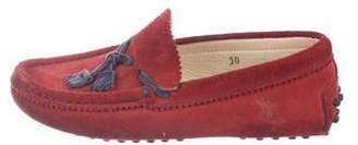 Tod's Girls' Suede Round-Toe Loafers