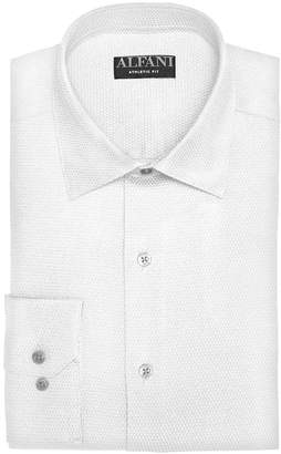 Alfani AlfaTech by Men's Athletic Fit Performance Stretch Step Twill Textured Dress Shirt