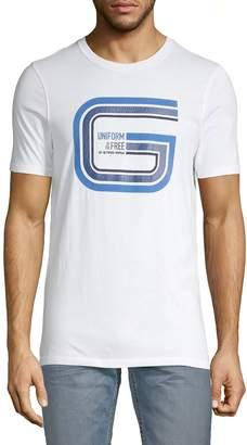 G Star Raw Graphic Logo Cotton Tee