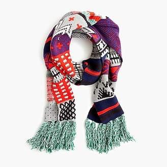 J.Crew Patchwork Fair Isle knit scarf