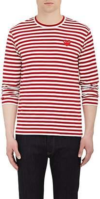 Comme des Garcons Men's Heart Patch Long-Sleeve T-Shirt