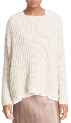 Women's Vince Ladder Stitch Cashmere Blend Pullover $445 thestylecure.com