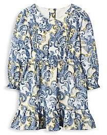 Janie and Jack Little Girl's& Girl's Paisley Ruffled Dress