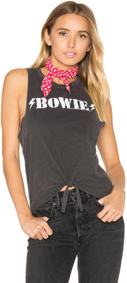 Chaser Bowie Tie Front Muscle Tee $59 thestylecure.com