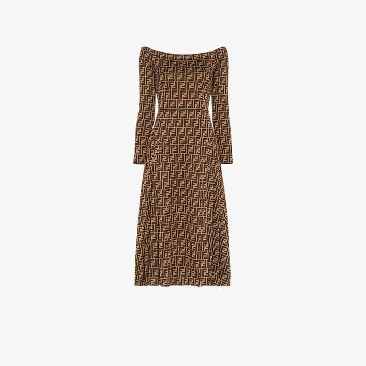 FF motif midi dress
