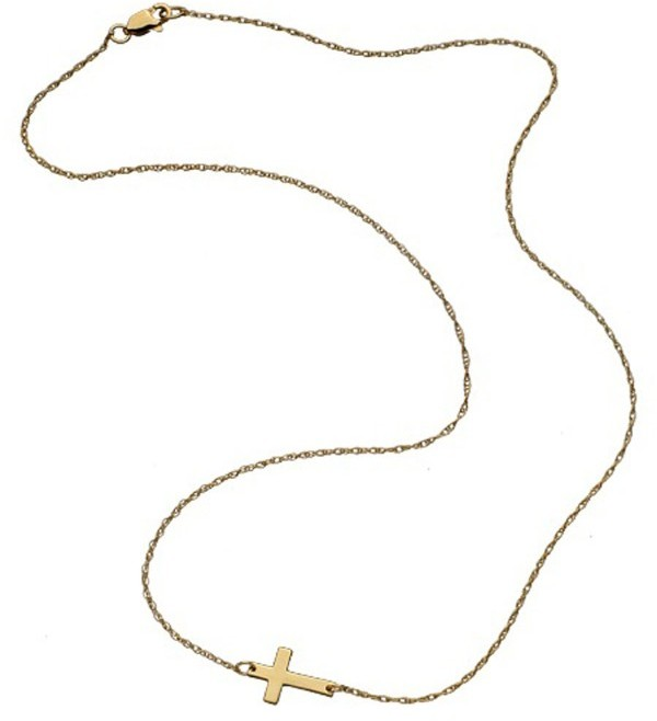 Jennifer Zeuner Mini Horizontal Cross Necklace