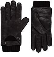 Christophe Fenwick Men's Le Mans Cashmere-Lined Leather Driving Gloves - Black