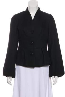 Magaschoni Pleated Structured Blazer