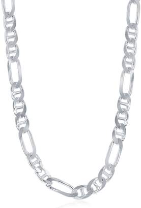 "Gucci Beaux Bijoux Sterling Silver Italian Rhodium Plated 7.3mm Figaro 22"" Chain"