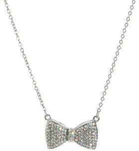 Wet Seal WetSeal Bow Short Necklace Gold