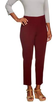 Susan Graver Petite Chelsea Stretch Side Zip Ankle Pant