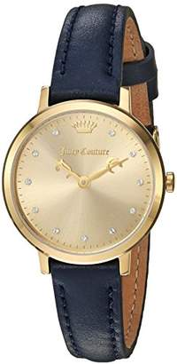 Juicy Couture Women's 'LA Ultra Slim' Quartz Gold-Tone and Leather Casual Watch