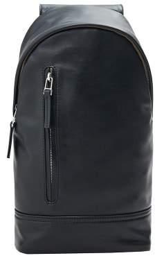 Mango Man MANGO MAN Asymmetric strap pebbled backpack