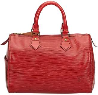 Louis Vuitton Vintage Speedy Burgundy Leather Handbag