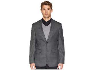 Perry Ellis Slim Fit Washable Plaid Suit Jacket