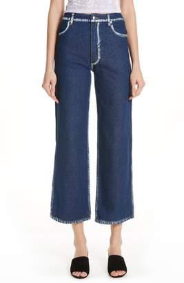 Eckhaus Latta EL Painted Seam Wide Leg Jeans