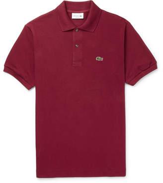 Lacoste Cotton-Pique Polo Shirt - Men - Burgundy