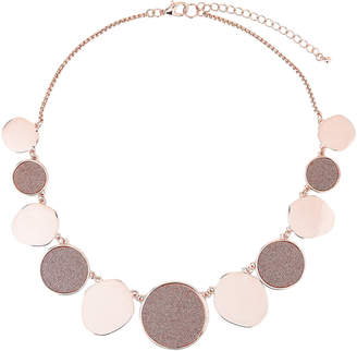 Carol Dauplaise Rose Gold-Tone Glitter Statement Necklace