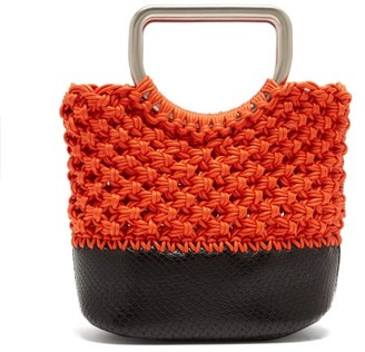 Proenza Schouler Market Macrame Mini Bag - Womens - Black Orange