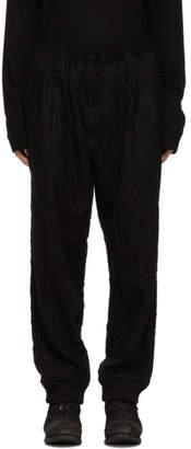 Yohji Yamamoto Black Wrinkle Trousers