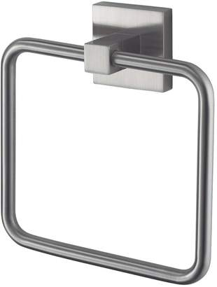Aqualux Haceka Mezzo Tec Towel Ring - Chrome