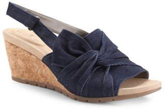 Bandolino Gayla Denim Wedge Sandals