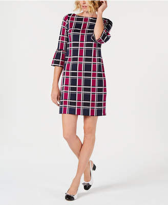 Charter Club Petite Plaid Shift Dress