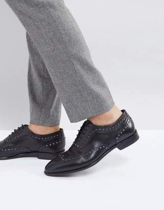 HUGO Appeal Lace Up Leather Stud Oxford Shoes in Black