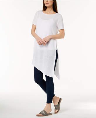 Eileen Fisher Organic Linen Asymmetrical Sweater, Regular & Petite