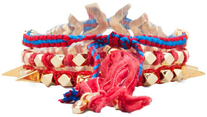 Ettika Gold Chevron Wrap Bracelet