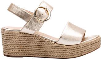 Unisa Kacera Wedge Heeled Sandals, Metallic Leather