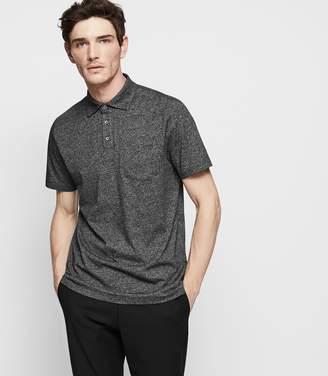 Reiss Seacroft Melange Polo Shirt