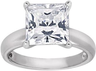 Diamonique 3.50cttw Princess-Cut Solitaire Ring, Sterling