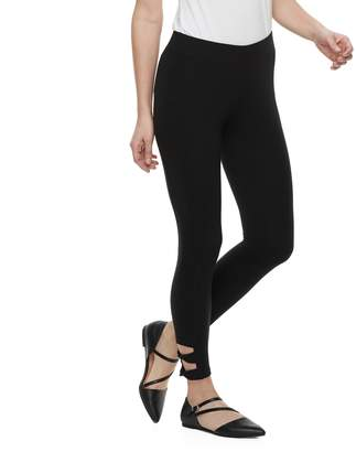 Utopia By Hue Women's Utopia by HUE Wide Waist Twisted Ankle Strap Leggings