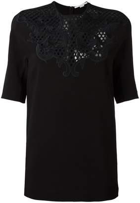Stella McCartney floral lace panel blouse