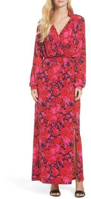 Leota Bridget Faux Wrap Maxi Dress
