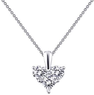 Lafonn Classic Sterling Platinum Plated Lassire Simulated Diamond Necklace (1.11 CTTW)