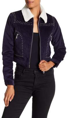 Rebecca Minkoff Koshova Faux Shearling Collared Jacket