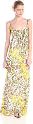 Adelyn Rae Women's Printed Maxi Dress with Adjustable Strap