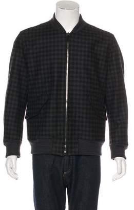 Gucci Wool Check Bomber Jacket