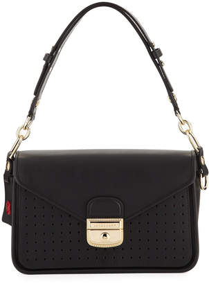 Longchamp Mademoiselle Perforated Leather Shoulder Bag
