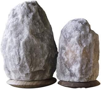 So Well Fair Trade Rare Grey Himalayan Crystal Salt Lamps (Set of 2)
