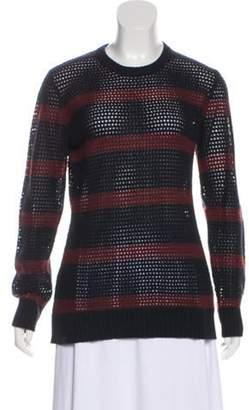 Michael Kors Cashmere Open Knit Sweater Navy Cashmere Open Knit Sweater