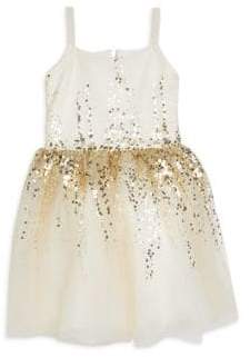 Zoe Girl's Elena Sequin Fit-and-Flare Dress