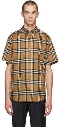 Burberry Beige Check Jameson Short Sleeve Shirt