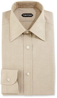Tom Ford Slim-Fit Solid Dress Shirt, Green