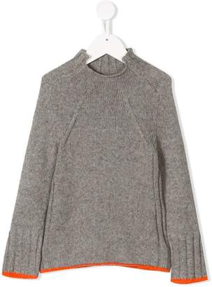 Burberry stand up collar jumper