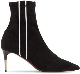 Ernesto Esposito 70mm Stretch Faux Suede Ankle Boots