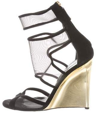 Diane von Furstenberg Mesh Wedge Sandals