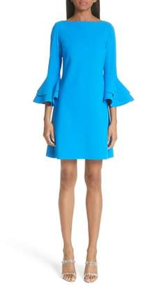 Chiara Boni Natalia Ruffle Bell Sleeve Dress
